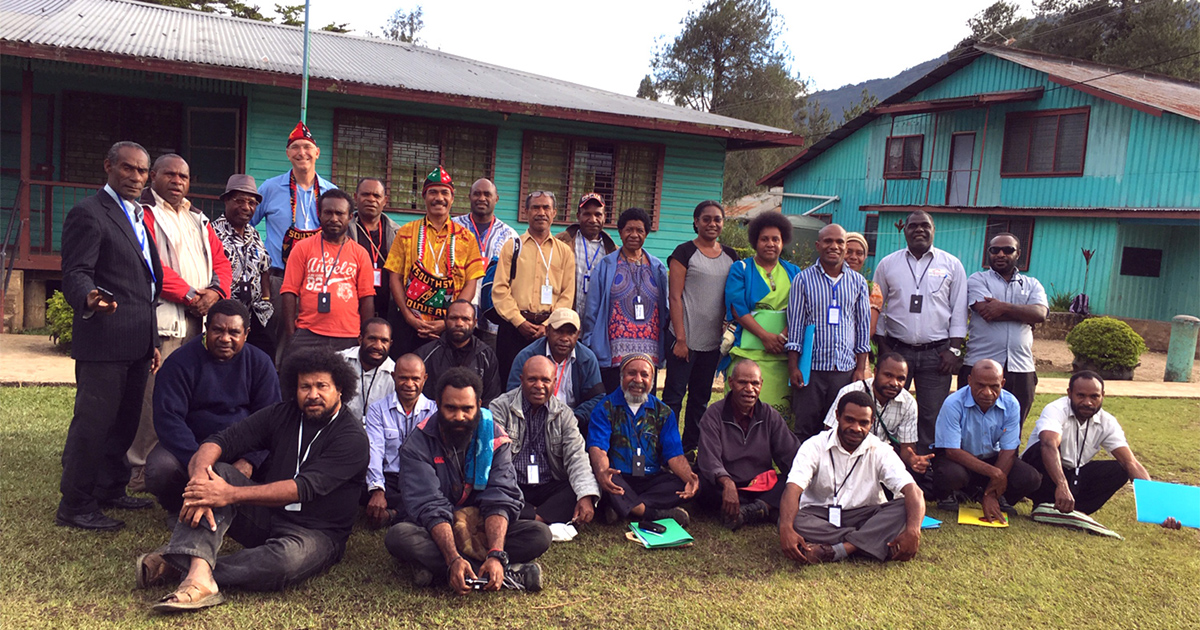 Training ministers for disaster recovery in remote Papua New
